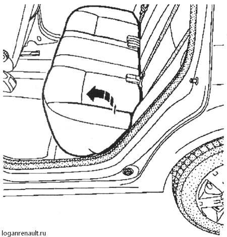 снятие и установка ремней безопасности