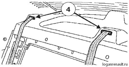 Замена переднего ремня безопасности Рено Логан / Сандеро Cтепвей с 1994 г.в.