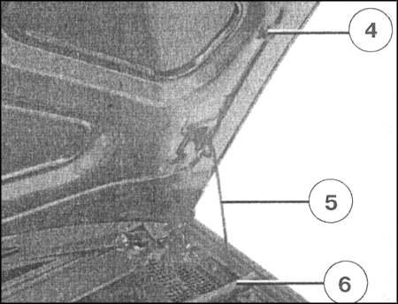 Снятие и установка троса отпирания капота - Renault Logan / Рено Логан