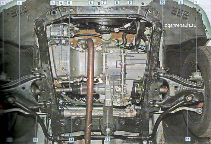 2- рычаг передней подвески