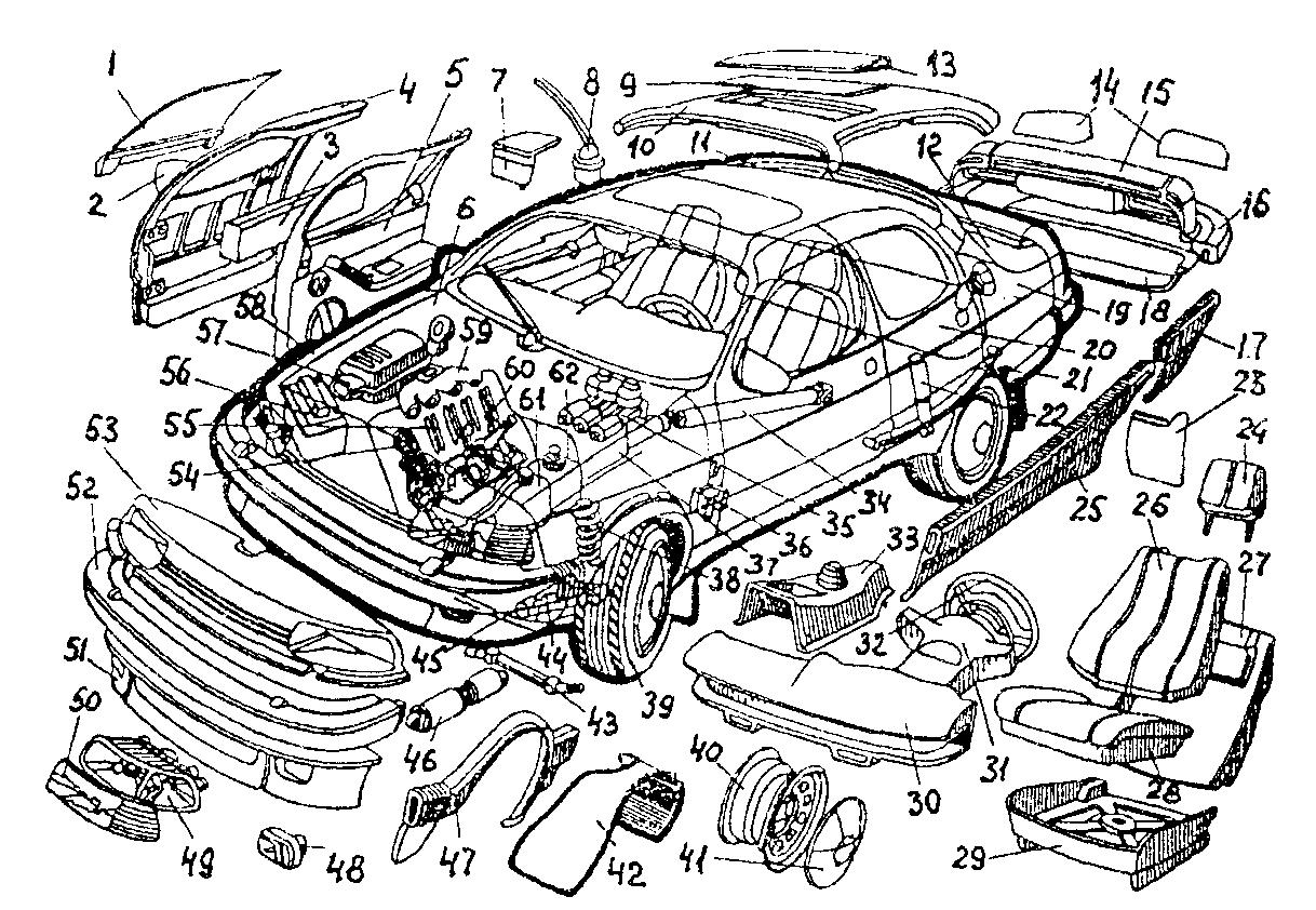 Название деталей машины с картинками